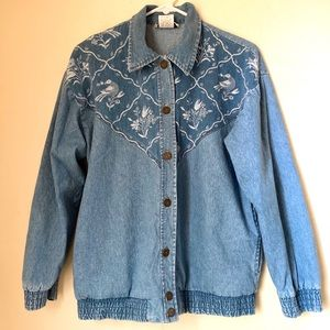 90s VTG TEDDI Women's  Denim Jean Jacket Size S